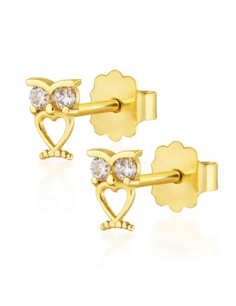 złote kolczyki dla dziewczynki